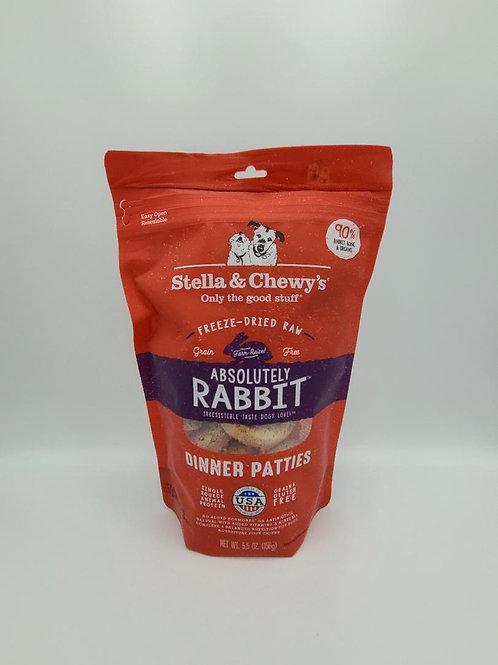 Stella & Chewy's Raw Freeze-Dried Dinner Patties 5.5 oz Rabbit