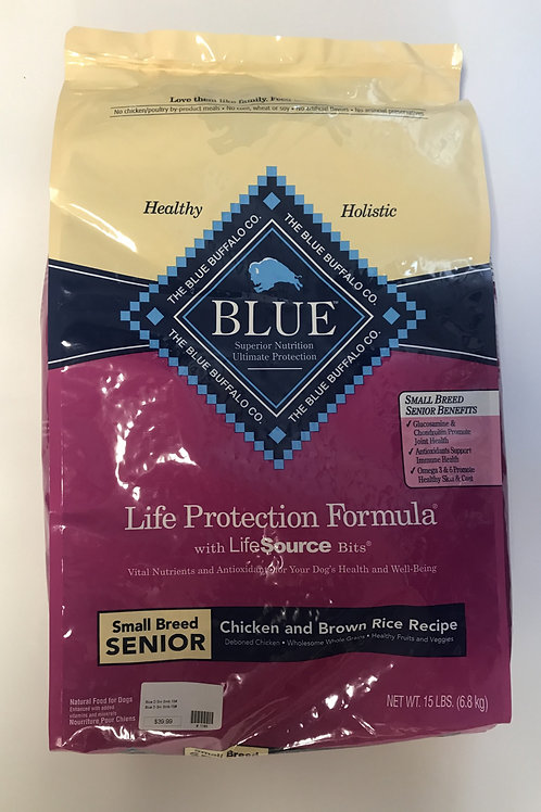 Blue Buffalo Small Breed Senior Chicken & Brown Rice 15 lbs