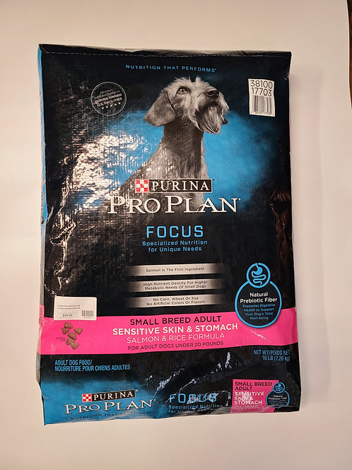 Purina Pro Plan Sm Br Adult Sen Stomach Salmon & Rice 16 lbs