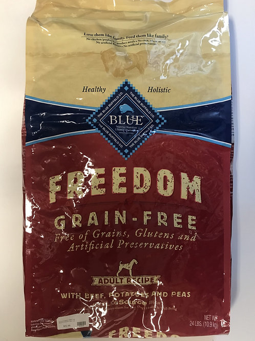 Blue Buffalo Freedom Grain-Free Beef, Potatoes, and Peas 24 lbs