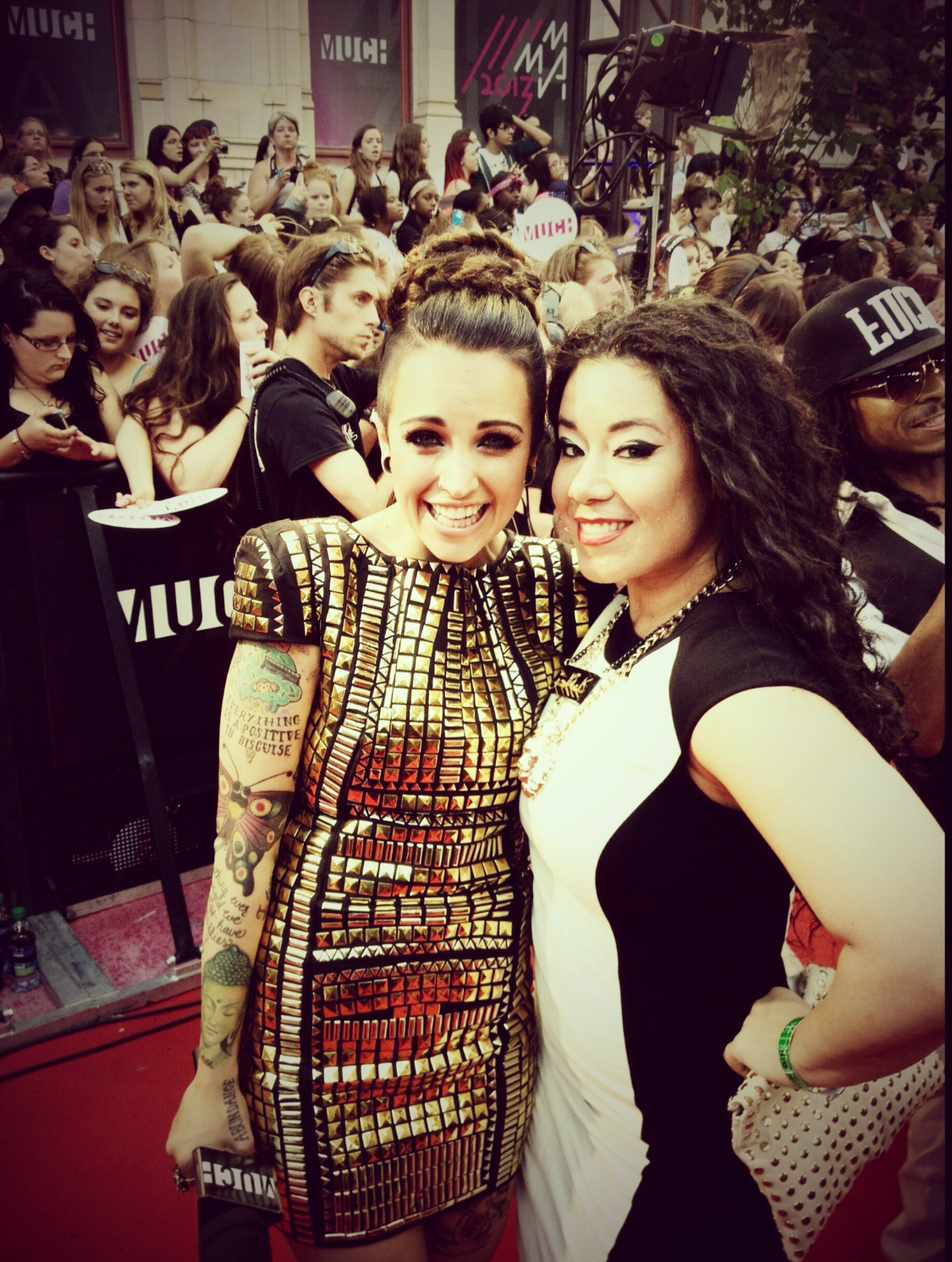 On the red carpet MMVA's