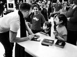 Fans at a Kia autograph signing