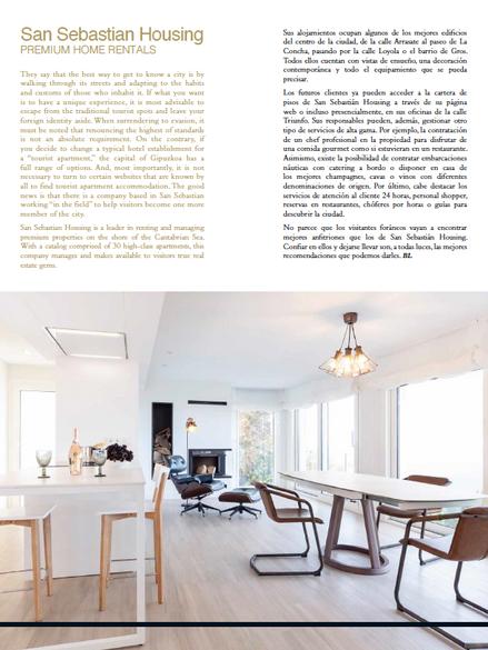Artículo San Sebastian Housing - Basque Luxury Magazine 2019