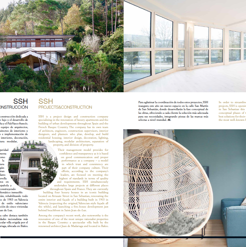 Articulo Homes by SSH - Basque Luxury Magazine 2019