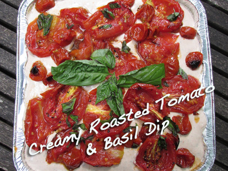 Creamy Roasted Tomato and Basil Dip