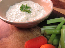 Roasted Tomatillo Ranch Dip with Greek Yogurt