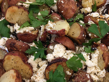 Easy Foil Roasted Greek Potatoes