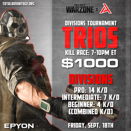 WARZONE $1000 TOURNEY IG GRAPHIC SEPT 18