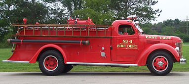 Engine #4 1946 International K-6,Peter Pirsch Pumper,500 Gallons Per Minute Pump,2nd Motorized Truck owned by ETFD(Still in operating condition)