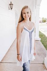 White Bohemian Embroidery Tunic