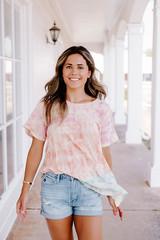 Light Multi-Color Cloud Tie Dye Shirt