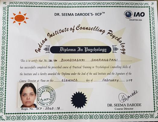 Psychology Certificate