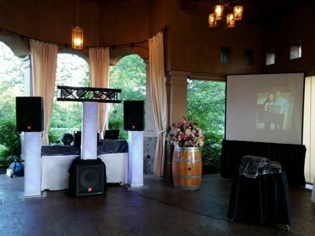 DJ with Big Screen Video Presentation