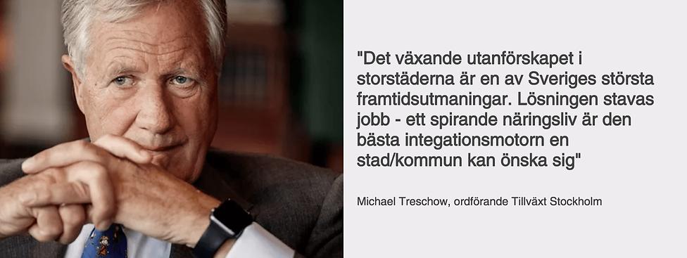 Michael Treschow, ordförnde Tillväxt Stockholm