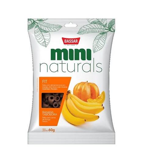 Snack Mini Naturals Fit - Banana e Abóbora - Bassar 60G