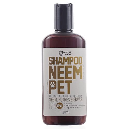 Shampoo Neem Pet Natural, Ervas & Flores para Pets 180ml – Preserva Mundi