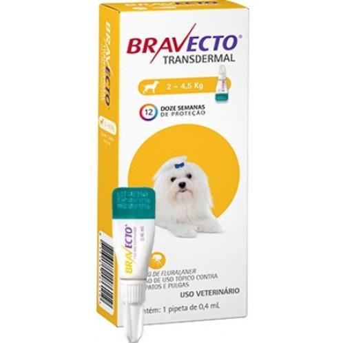 Bravecto Transdermal 112,5mg para cães de 2 a 4,5Kg