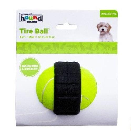 Bola de Tênis para Cães com Textura de Pneu e Super Salto - Outward Hound
