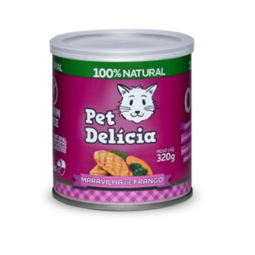 Alimento Úmido Pet Delícia Gatos Maravilha de Frango 320g
