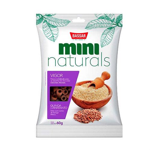 Petisco Mini Naturals Vigor Bassar Quinoa e Amaranto 60 g