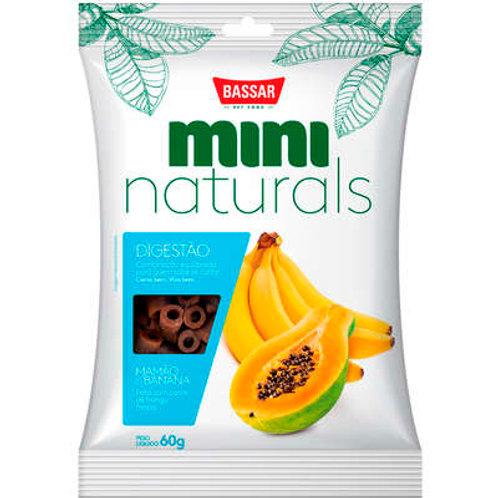Snacks Bassar Mini Naturals Digestão Mamão & Banana 60g