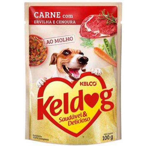 Ração Úmida Keldog Sachê para Cães Sabor Carne 100g