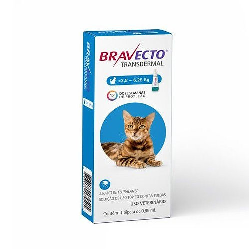 Antipulgas MSD Bravecto Transdermal p/Gatos de 2,8 a 6,25Kg