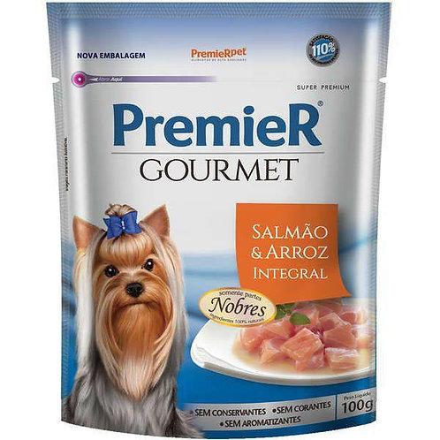 Sachê Premier Gourmet para Cães Adultos Salmão e Arroz Integral - 100g