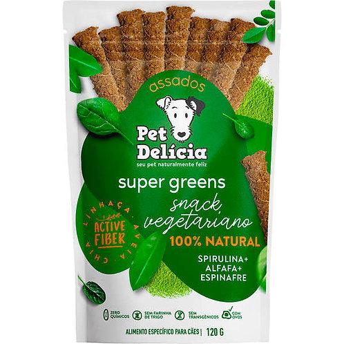Snack Pet Delícia Super Greens Natural Sabor Alfafa, Espirulina e Espinafre
