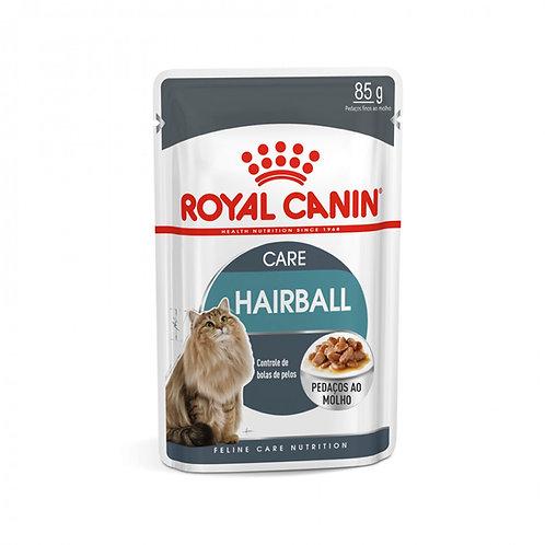Ração Úmida Royal Canin para Gatos Sachê Adultos Hairball Care