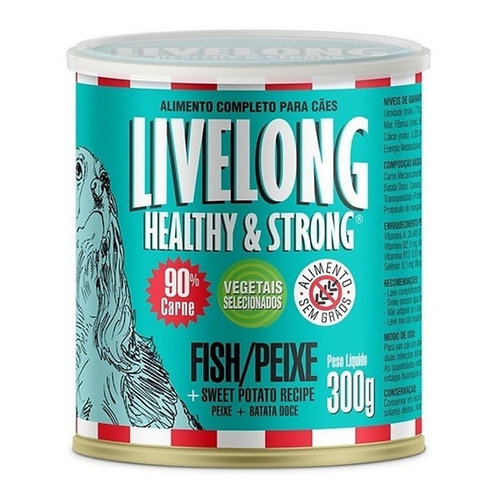Alimento Úmido Para Cães Livelong Sabor Peixe 300g