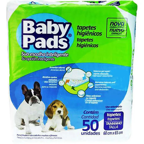 Tapete Higiênico Baby Pads - 50 Unidades