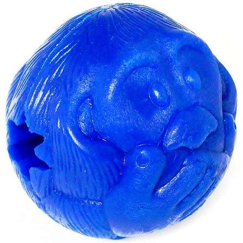 Bola Macaquinho Pet Games Azul Dispenser de Ração ou Petisco Tam G