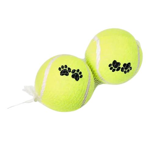 Brinquedo Bola de Tênis para Cães 2 Unidades Tam G - Chalesco
