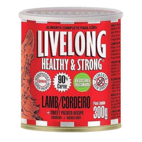 Alimento Umido de Cordeiro para Cães 300g Livelong