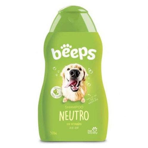 Beeps 500 ml Shampoo Neutro cães e gatos
