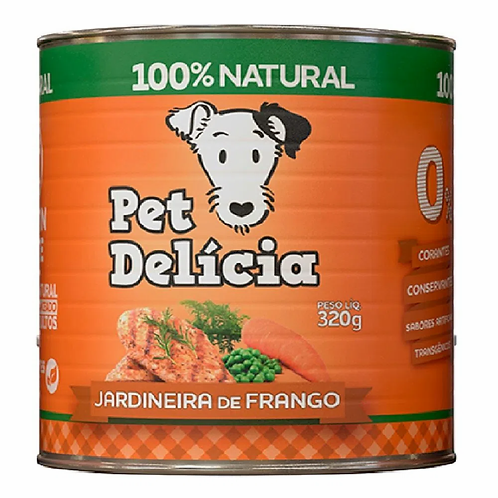 Pet Delícia para Cães Jardineira de Frango Lata 320g