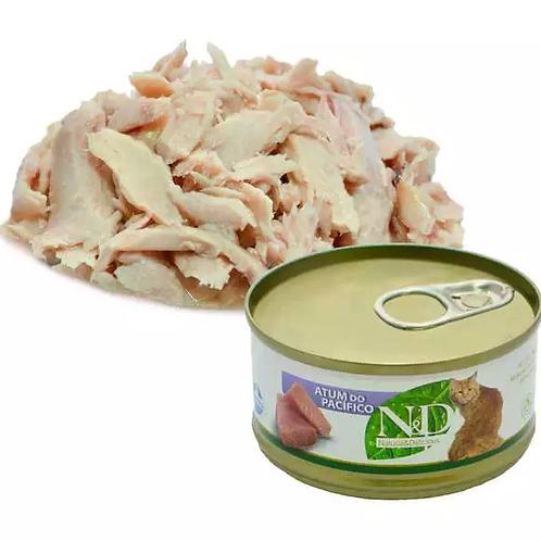 Ração Farmina N&D Úmida de Atum do Pacífico para Gatos - 70 g