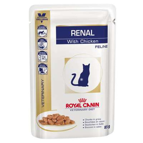 Royal Canin Sachê Diet Renal Frango para Gatos com Doença nos