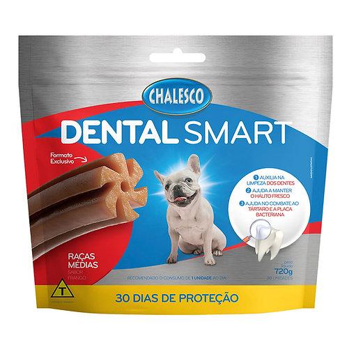 Biscoito Dental Smart Raças Médias Frango 720g Chalesco