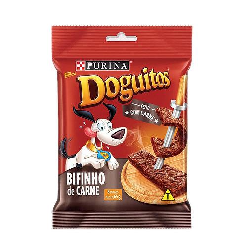 Petisco Cães Doguitos Rodízio Carne Purina 65g