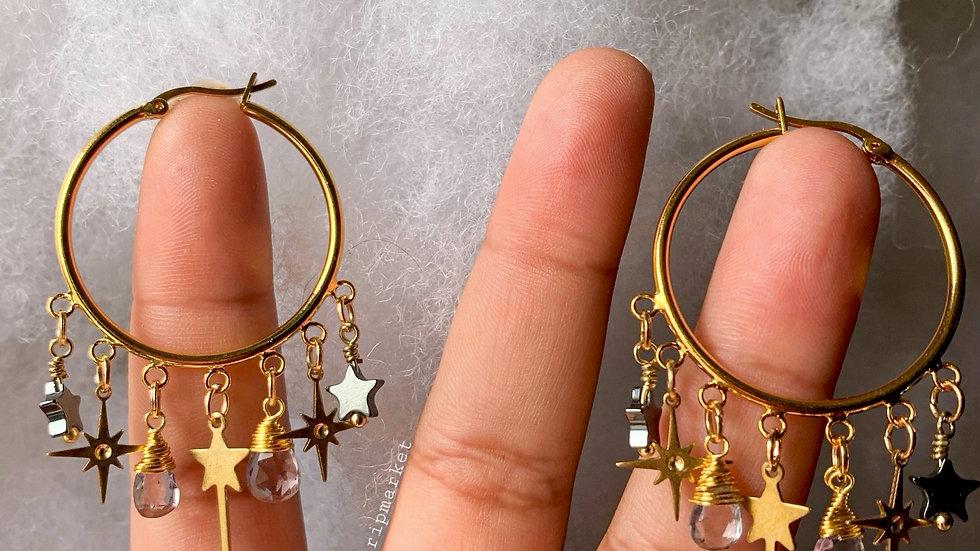 New Magic Wand hoop earrings