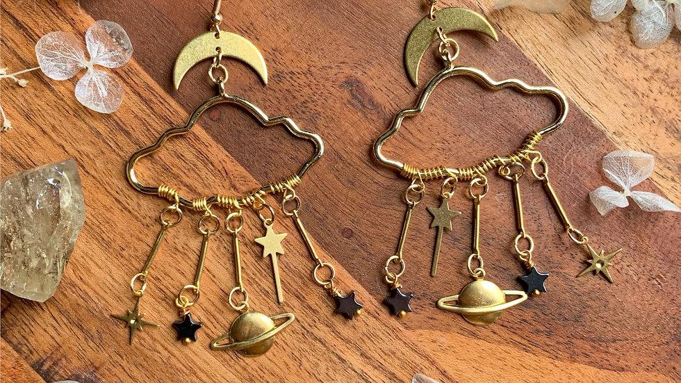 Saturn dreams earrings