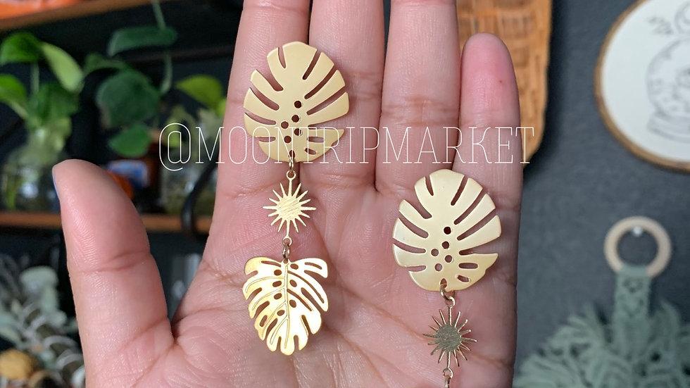 Indoor Jungle earrings