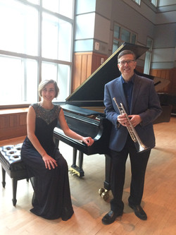 Recording for Ictus Music Competition at Curtis Institute (Anna Kislitsyna and David Bilger)