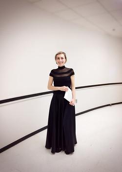 Anna Kislitsyna after performing Bach Concerti for multiple harpsichords