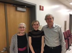 Rock Hall - Anna Kislitsyna with her teachers: Dr. Charles Abramovic and Dr. Joyce Lindorff