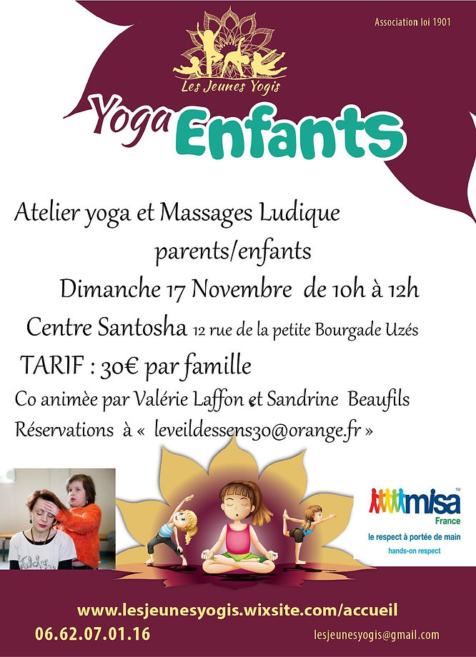 stage yoga ludique et massage Misa verso