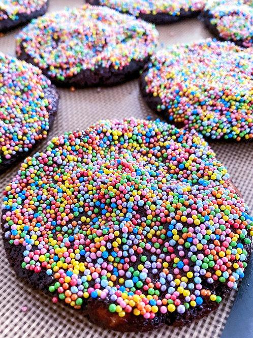 Chocolate Rainbow cookies and tea serves 4
