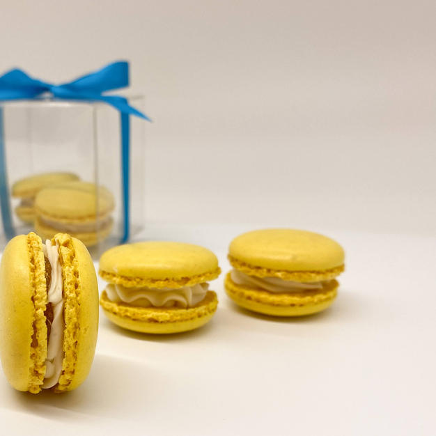 Passion Fruit and coconut Macarons